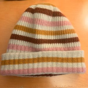 Madewell Striped Cashmere Beanie